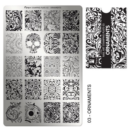 Stamping Platte Nr. 03 - Ornaments