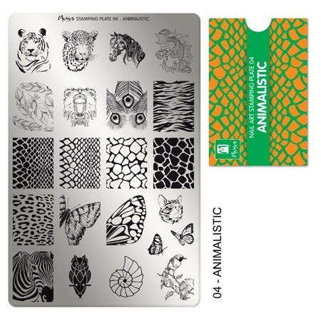 Stamping Platte Nr.04 - Animalistic