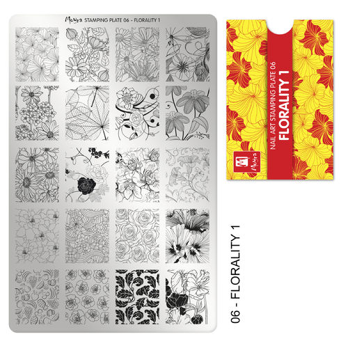 Stamping Platte Nr.06 - Florality 1