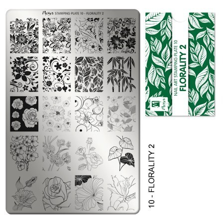 Stamping Platte Nr.10 - Florality 2
