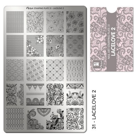 Stamping Platte Nr.31 - Lacelove 2