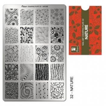 Stamping Platte Nr.32 - Nature