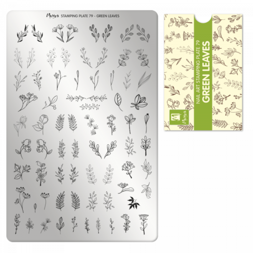 Moyra Stamping Platte Nr.79 - Green Leaves