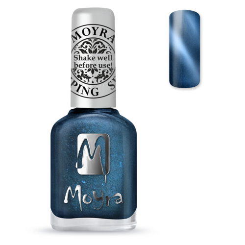 Moyra Stamping Lack - SP 33 Cat Eye Magnetic Blue