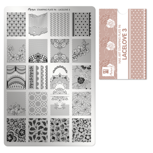 Stamping Platte Nr.96 - Lacelove 3